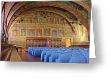Sala Dei Notari 13th Century Greeting Card