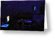 Sala Em Efeito Discoteca Greeting Card