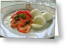 Salad Caprese Greeting Card