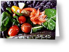 Salad Greeting Card