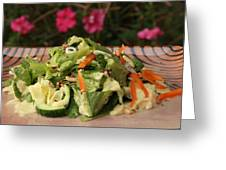 Salad On The Terrace Greeting Card by Murtaza Humayun Saeed