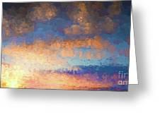 Salamonie Sunset Abstract Greeting Card
