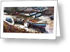 Salcombe Boatyard Greeting Card