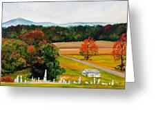 Salem Cemetery In October Greeting Card