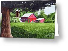 Salem County Farm, Framed Greeting Card