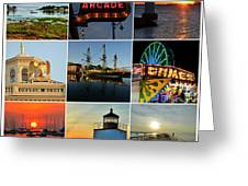 Salem Ma Nine Picture Collage Greeting Card