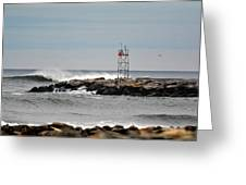 Salisbury Beach Jetty Greeting Card