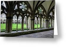Salisbury Cathedral Cloisters Greeting Card