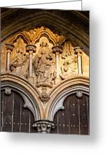 Salisbury Cathedral Doors Greeting Card