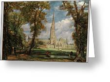 Salisbury Cathedral From The Bishop Grounds Greeting Card