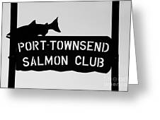 Salmon Club Greeting Card