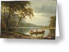 Salmon Fishing On The Caspapediac River Greeting Card