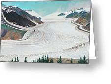 Salmon Glacier, Frozen Motion Greeting Card
