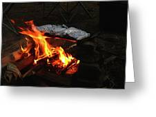 Salmon On The Fire Greeting Card