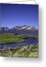 Salmon River And Sawtooth Mountains Greeting Card