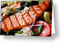 Salmon Salad Greeting Card