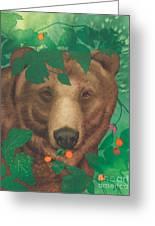Salmonberry Bear Greeting Card