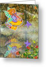 Salmonberry Fairy Merri Goldentree Greeting Card