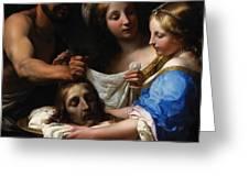 Salome With The Head Of Saint John The Baptist Greeting Card by Onorio Marinari