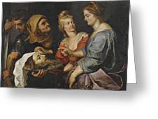 Salome With The Head Of St. John The Baptist Greeting Card