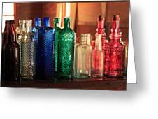 Saloon Bottles Greeting Card