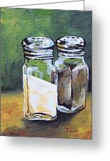 Salt And Pepper I Greeting Card by Torrie Smiley