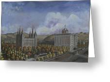 Salt Lake City Temple Square Nineteen Twelve Right Panel Greeting Card