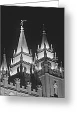 Salt Lake Temple Night Greeting Card