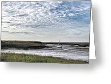 Salt Marsh And Creek, Brancaster Greeting Card