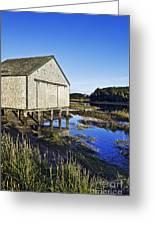 Salt Pond Boathouse  Greeting Card