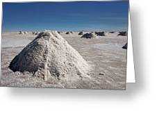 Salt Production Greeting Card