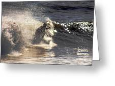 Salt Spray Surfing Greeting Card