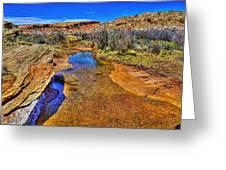 Salt Wash Near Wolf Ranch Arches Np Moab Utah Greeting Card