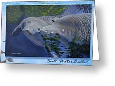 Salt Water Ballet - Manatees - 2 Greeting Card
