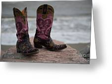 Salt Water Boots Greeting Card