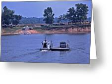 Saltilla Tennessee River Ferry - 2 Greeting Card