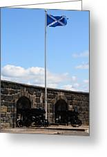 Saltire And Canons Greeting Card