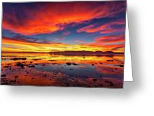 Salton Sea Sunset Greeting Card