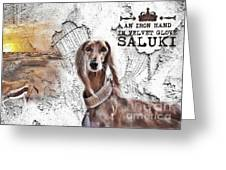 Saluki - The One And Only Greeting Card