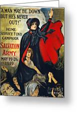 Salvation Army Poster, 1919 Greeting Card