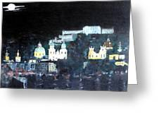 Salzburg In Moonlight Greeting Card
