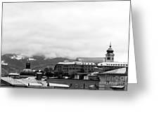 Salzburg Top View Mono Greeting Card