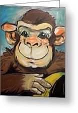 Sam The Monkey Greeting Card