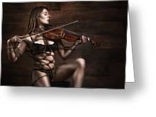 Samantha Bentley/badbentley, Violin - Fine Art Of Bondage Greeting Card