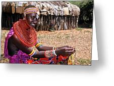 Samburu Beauty Greeting Card