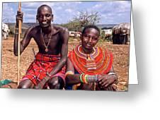 Samburu Couple Greeting Card