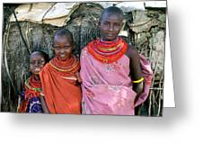 Samburu Sisters Greeting Card