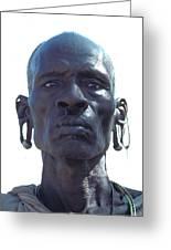 Samburu Warrior In Kenya Greeting Card