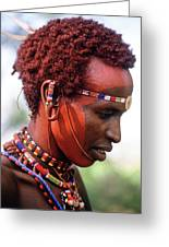 Samburu Warrior Greeting Card