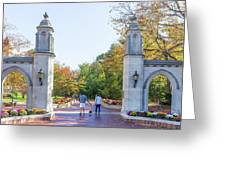 Sample Gates At University Of Indiana Greeting Card